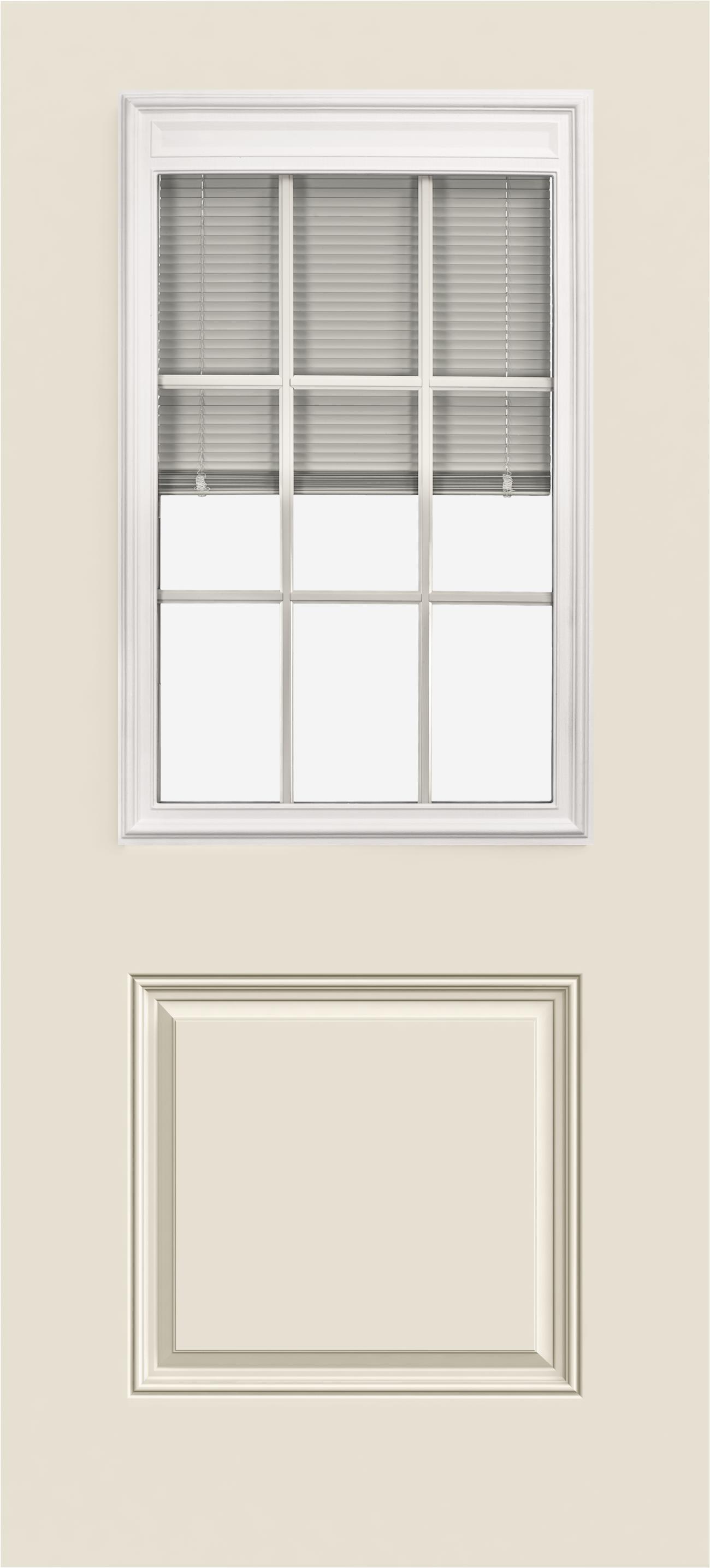 Smooth Pro Fiberglass Exterior Doors 1 2 View Blinds 9 Light 1 Panel Reliable And Energy Efficient Doors And Windows Jeld Wen Windows Doors