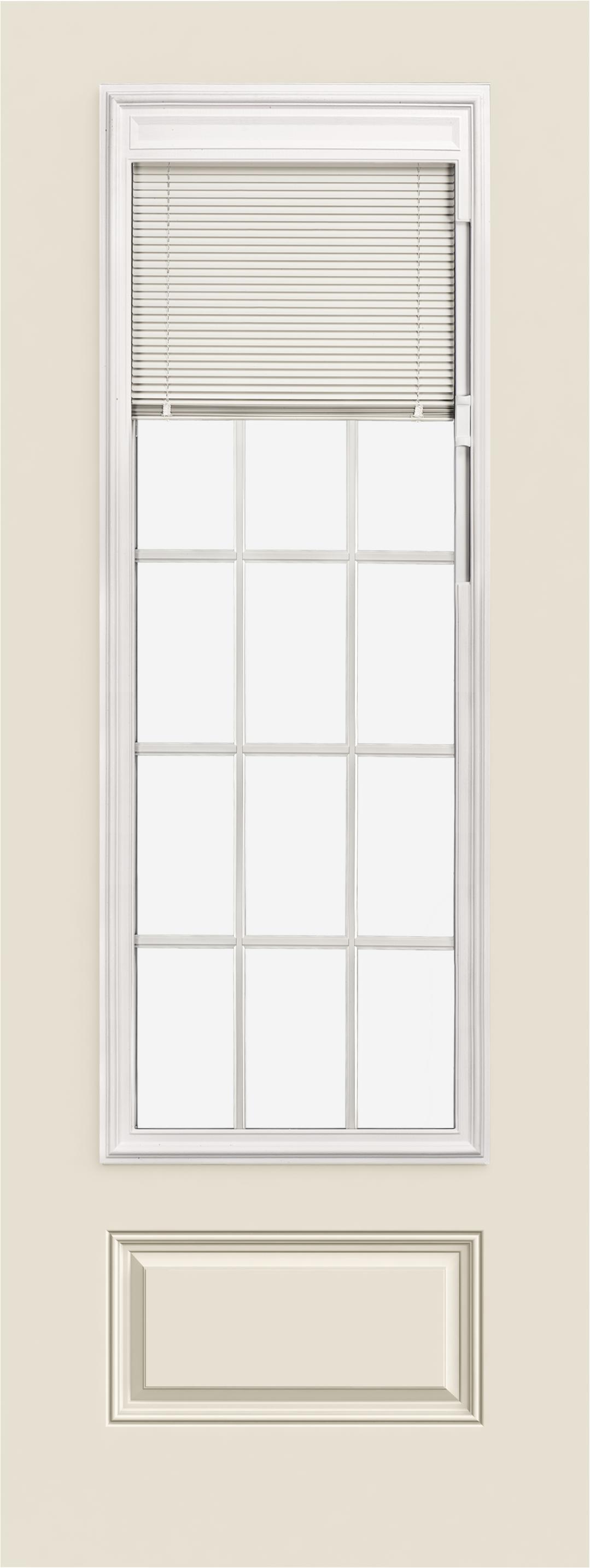 Smooth Pro Fiberglass Exterior Doors 8ft 3 4 View Blinds 15 Light 1 Panel Reliable And Energy Efficient Doors And Windows Jeld Wen Windows Doors