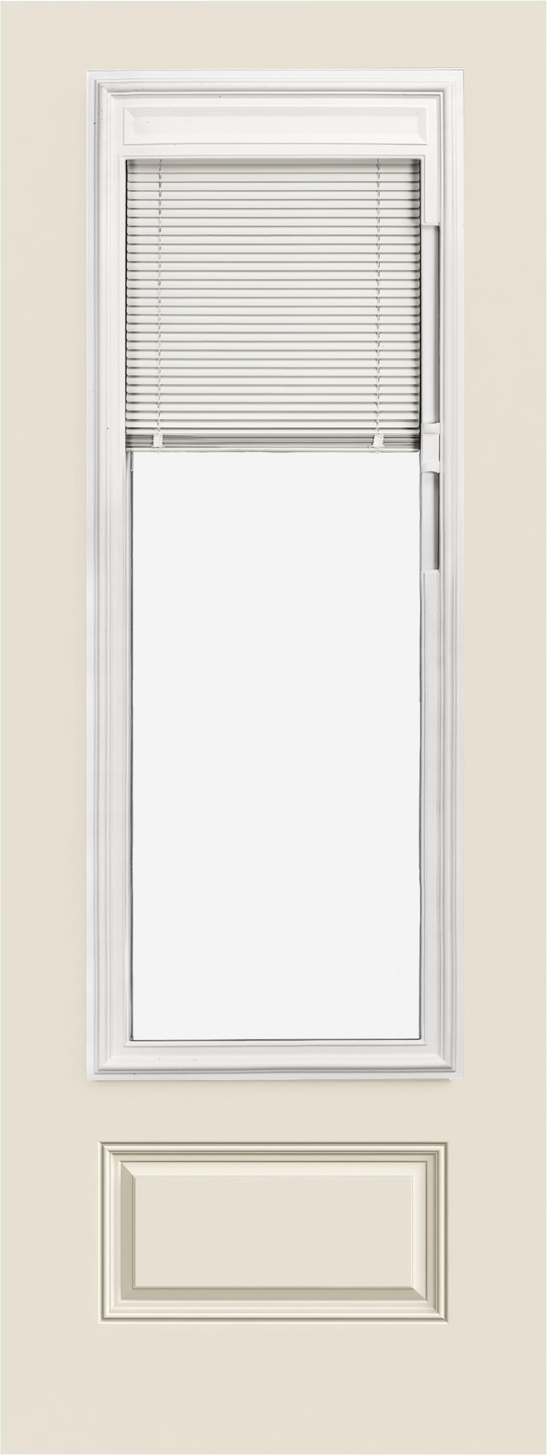 Smooth Pro Fiberglass Exterior Doors 8ft 3 4 View Blinds 1