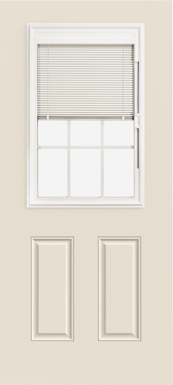 Steel Exterior Doors 1 2 View Blinds 9 Light 2 Panel Reliable And Energy Efficient Doors And Windows Jeld Wen Windows Doors